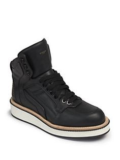 Givenchy - Tyson Rottweiler Leather High-Top Sneakers