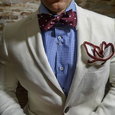 White Center with Maroone Signature Border. Be Bold! | Raddest Men's Fashion Looks On The Internet: http://www.raddestlooks.org
