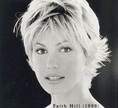don't remember her with short hair but I LOVE this cut:) Faith Hill