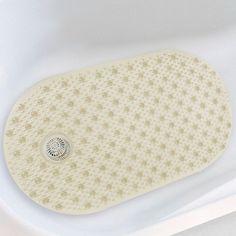 Asstd National Brand Bubble Tub Mat with Hair Catcher