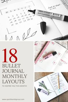 Bullet Journal Monthly Layout Inspiration