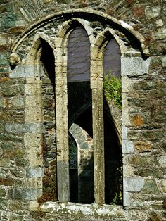 My photo of old church window taken in county Cork.