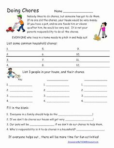 "Life Skills - Chores great way to teach ""it's not kid torture, it's part of being a family & a responsible human being"" :-)"