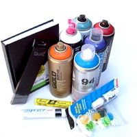 33third Simple-Combo gives you an affordable intermediate all-in-one combo pack to get you started as soon as you open the package. -Each Combo Includes:  4 x High Pressure 400ML Spray Can  2 x Low Pressure 400ML Spray Can  1 x Pentel Mini White Paint Marker  1 x Markal  1 x UNI PX-30  1 x 6x8 Blackbook  1 x 20 Pack of Assorted Spray Caps  1 x Pencil Set -www.33third.com