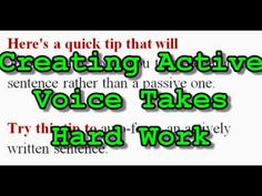 Video: Tips to Eliminate Passive Writing – by Aggie Villanueva
