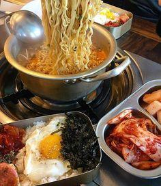 aesthetic: D – Korean food Think Food, I Love Food, Good Food, Yummy Food, Tasty, Korean Street Food, Korean Food, Asian Recipes, Real Food Recipes