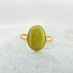 Yellow Turquoise Beautiful Oval Shape Micron by BaniThani Yellow Rings, Green Rings, Bezel Ring, Yellow Turquoise, Cool Tools, Gemstone Rings, Shapes, Silver, Gold