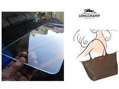Clear Base Shaper Liner for Longchamp Le Pliage Large Long Handle Purse Tote Custom Made Flame