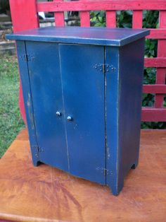 Vintage Primitive Doll Clothing Armoire Chest Box Cabinet Spice Jelly Apothecary…