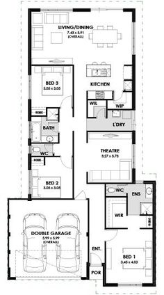 The Hayman is part of our Valiant Range of home designs Perth which include a of total area with 3 Bedrooms & Double Lock up Garage. Ranch House Plans, New House Plans, First Home Buyer, Floor Layout, Home Ownership, Next At Home, Modern Rustic, Living Area, Bath