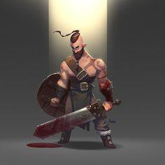 Viking, Alexandr Pushai on ArtStation at https://www.artstation.com/artwork/g9ze8