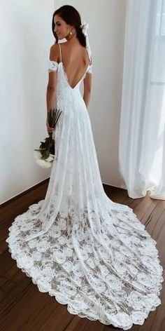 Bohemian Wedding Dress Ideas You Are Looking For ★ bohemian wedding dress a line v back with spaghetti straps lace train grace loves lace wedding attire 27 Bohemian Wedding Dress Ideas You Are Looking For Top Wedding Dresses, Wedding Attire, Bridal Dresses, Wedding Gowns, Wedding Bride, Wedding Reception, Boho Wedding Dress Bohemian, Bohemian Weddings, Indian Weddings