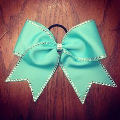 Cute and simple turquoise diamond bow
