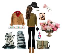 Dream to visit Italia..! by naznazguven on Polyvore featuring moda, Roberto Cavalli, Madewell, STELLA McCARTNEY, Yves Saint Laurent, L'Autre Chose, The Horse, Ralph Lauren, Honora and Topshop
