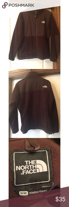 Classic North Face Jacket Chocolate brown. Great condition! COMFY & cozy. Women's, medium. North Face Jackets & Coats