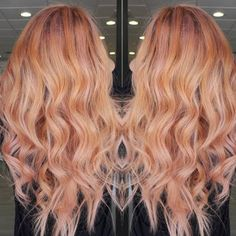 Up the amp with this rose gold balayage and lustrous curls on your night out. Check out this how to and the styling and coloring essentials listed for inspiration.