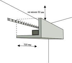 Схема монтажа светодиодной ленты Interior Ceiling Design, Interior Lighting, Lighting Design, Interior Decorating, 3d Model Architecture, Light Architecture, Cove Lighting Ceiling, Ceiling Lights, Wall Design