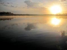 Sunrise On Pokegama Lake, Lac du Flambeau, WI, by AnneBlueSiegler on Etsy