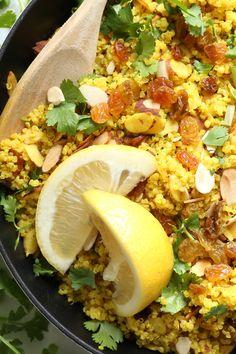 Lemony Quinoa with Turmeric