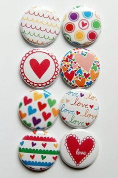 With ALl My Heart Flair by aflairforbuttons on Etsy, $6.00  #aflairforbuttons #flair