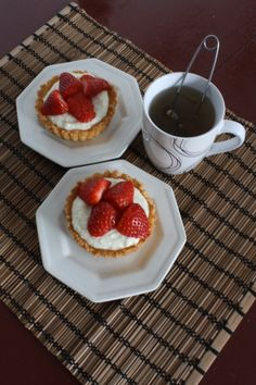 Gluten-free White Chocolate and Strawberry Tartlets