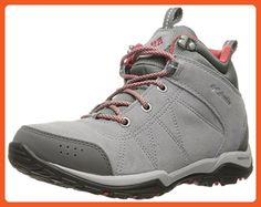 Columbia Women's Fire Venture Mid Waterproof Hiking Boot, Steam, Sunset Red, 10 B US - Outdoor shoes for women (*Amazon Partner-Link)