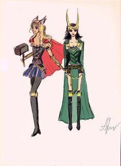 lady Loki and Lady thor costume ideas