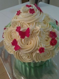 Elegant butterfly giant cupcake
