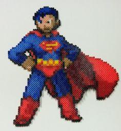 Perler Bead: Superman by ~thewiredslain on deviantART