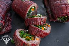 The smoky flavors from the grill bring this meal to life however, it's just as easy and delicious to make in your oven! Stuffed flank steak is one of the. Low Carb Recipes, Beef Recipes, Yummy Recipes, Flank Steak Recipes, Chicken Broccoli Casserole, Smoking Recipes, How To Eat Better, Meals In A Jar, Cream Of Chicken Soup
