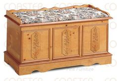 Amazon.com - Traditional Style Cedar Storage Hope Chest With Cedar Lining Also Includes Lock In Pine Wood Finish. (Item# Vista Furniture CF4696) -