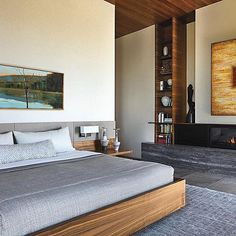 Divergent Styles Find Common Ground In A Hillside Arizona Home - Luxe Interiors + Design Custom Bed, Luxe Bedroom, Best Bedding Sets, Rearranging Furniture, Home, Interior, Luxury Interior, Luxe Interiors, Home Decor