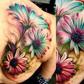 Tattoo Henna, Tatoo Art, Body Art Tattoos, Girl Tattoos, Sleeve Tattoos, Tatoos, Unique Tattoo Designs, Unique Tattoos, Daisy Tattoo Designs