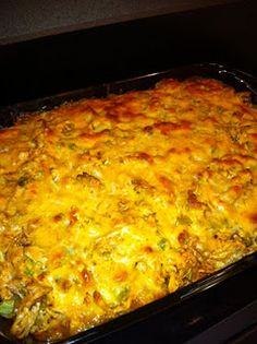 Fiesta Cornbread & Chicken Casserole--1.5lbs of chicken breast  1/2 pkg taco seasoning  tsp cumin  1 can mexi-corn  1 can cream corn  1 7.5oz box Martha White corn muffin mix  1/4 cup bisquick (or larger box corn muffin mix)  1 bag mexi-cheese  1 can green chiles  1 10oz can enchilada sauce  1/3 cup milk  1/2 cup green onions, sliced  1/3 cup egg substitute  sour cream (optional)