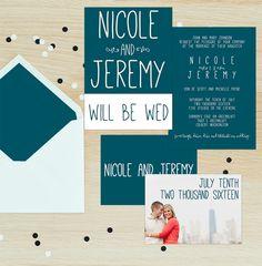 GRACE Wedding Invitation Suite | MODERN | Mango Ink