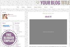Family Darr: Freebie Friday - Free Blogger Template