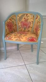 Shabby chic reupholstered chair