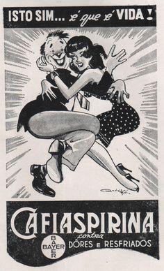 anúncio de Cafiaspirina década de 50.