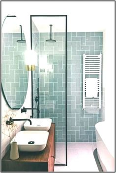 Modern Farmhouse, Rustic Modern, Classic, light and airy master bathroom design a few ideas. Bathroom makeover ideas and master bathroom renovation suggestions. Bathroom Renos, Small Bathroom Tiles, Bathroom Tile Patterns, Modern Bathrooms, Bathroom Remodel Small, Small Bathroom Layout, Very Small Bathroom, Bathroom Makeovers, Bathrooms On A Budget