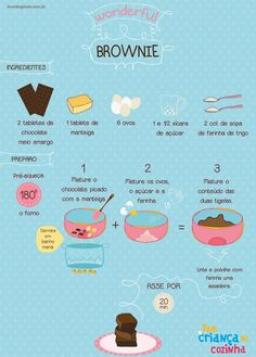 Wonderful Brownie -  Receita Ilustrada