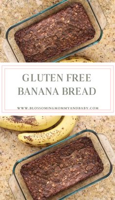 The BEST Healthy + Moist Gluten Free Banana Bread - This Recipe is a Community Favorite! Healthy Food Habits, Healthy Homemade Snacks, Healthy Bread Recipes, Healthy Foods To Eat, Healthy Eating, Breakfast Bread Recipes, Gluten Free Recipes For Breakfast, Free Breakfast, Gluten Free Banana Bread
