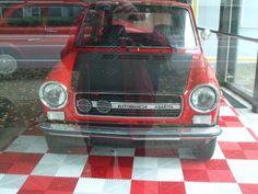 special car in showroom
