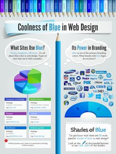 Coolness of Blue in #Web #Design – Interactive #Infographic