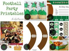 Party City Are you planning a playoff football or Super Bowl party? Well just in case you are planning either a big party or just a famil. Football Crafts, Football Tailgate, Football Birthday, Football Baby, Football Season, Nfl Party, Sports Party, 5th Birthday Party Ideas, Craft Party
