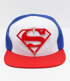 Boné infantil Modelo aba reta Estampa Super Homem Marca  DC Comics COLEÇÃO  VERÃO 2017 Veja 50534e56017