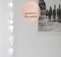 Geometric Clay Mobile