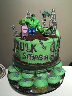 Gamma Ray Hulk Smash cupcakes Cupcakes Pinterest Hulk smash