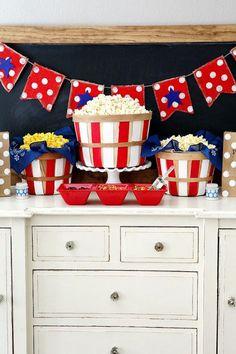 July 4th Popcorn Bar