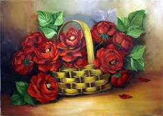 Resultado de imagem para pintura em tecido rosas
