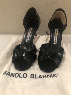 d3c57a93b Well worn Manolo heels that may need some work with a cobbler to make them  more stable to walk in. Pricing low as I think they can be fixed but I  don t ...